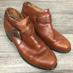 Ariat Brown Leather Western Booties, Size 8B